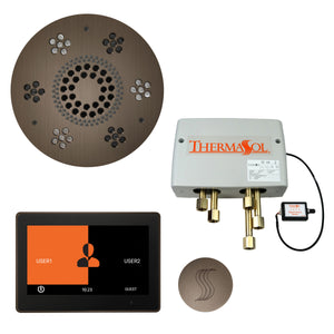 "The Total Wellness Package with 10"" ThermaTouch Trim Upgraded, by ThermaSol Antique Nickel"