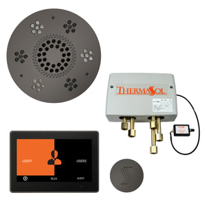 "The Total Wellness Package with 10"" ThermaTouch Trim Upgraded, by ThermaSol Black Nickel"