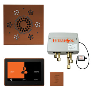 "The Total Wellness Package with 10"" ThermaTouch Trim Upgraded, by ThermaSol square antique copper"