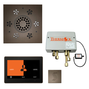 "The Total Wellness Package with 10"" ThermaTouch Trim Upgraded, by ThermaSol square antique nickel"