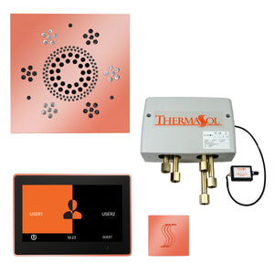 "The Total Wellness Package with 10"" ThermaTouch Trim Upgraded, by ThermaSol square copper"