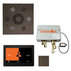 "The Total Wellness Package with 10"" ThermaTouch Trim Upgraded, by ThermaSol square oil rubbed bronze"