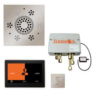 "The Total Wellness Package with 10"" ThermaTouch Trim Upgraded, by ThermaSol square polished nickel"