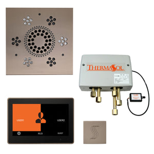 "The Total Wellness Package with 10"" ThermaTouch Trim Upgraded, by ThermaSol square satin nickel"