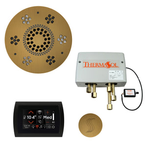 The Total Wellness Package with SignaTouch by ThermaSol round antique brass