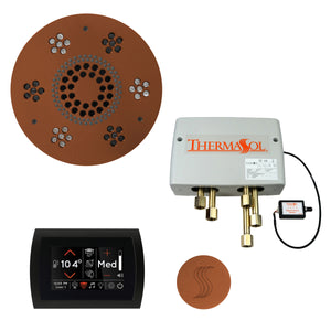 The Total Wellness Package with SignaTouch by ThermaSol round antique copper