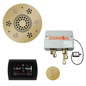 The Total Wellness Package with SignaTouch by ThermaSol round polished brass