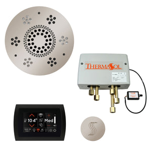 The Total Wellness Package with SignaTouch by ThermaSol round polished nickel