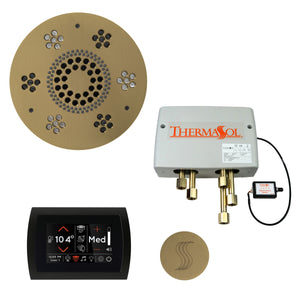 The Total Wellness Package with SignaTouch by ThermaSol round satin brass
