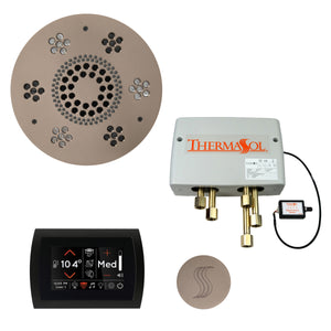 The Total Wellness Package with SignaTouch by ThermaSol round satin nickel