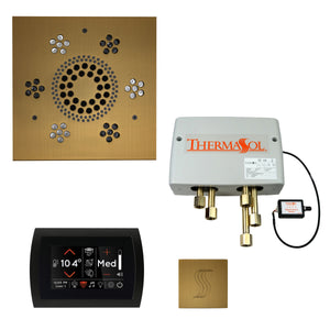The Total Wellness Package with SignaTouch by ThermaSol square antique brass