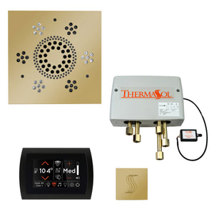 The Total Wellness Package with SignaTouch by ThermaSol square polished brass