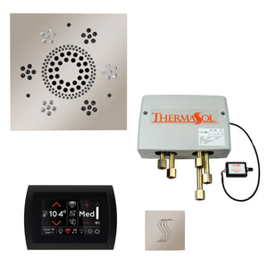 The Total Wellness Package with SignaTouch by ThermaSol square polished nickel