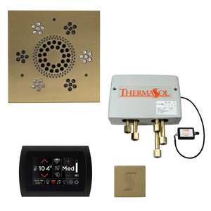 The Total Wellness Package with SignaTouch by ThermaSol square satin brass