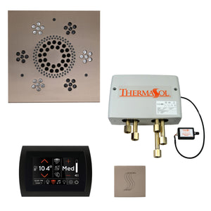 The Total Wellness Package with SignaTouch by ThermaSol square satin nickel