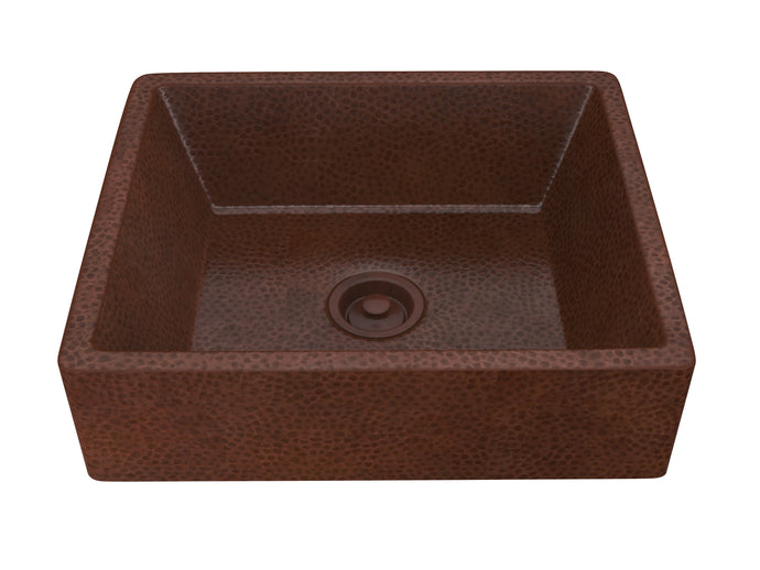 Tidal 19 in. Handmade Vessel Sink in Hammered Antique Copper