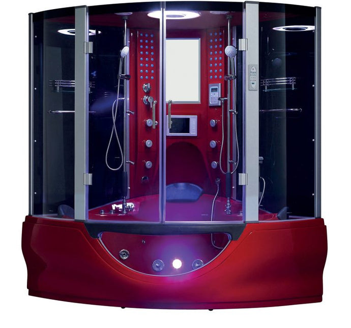 Maya Bath Valencia Steam Shower - Red