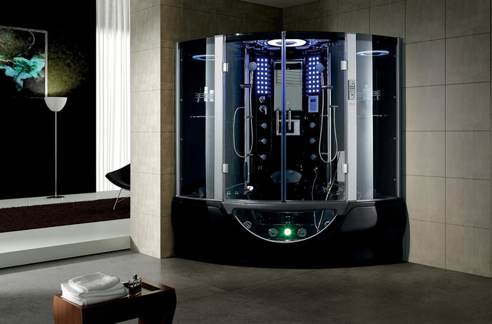 Maya Bath Valencia Steam Shower - Black
