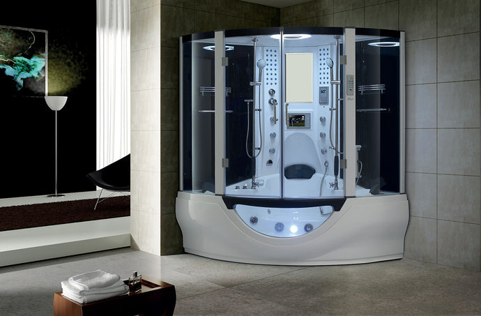 Maya Bath Valencia Steam Shower - White