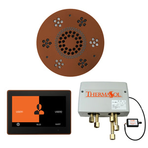 The Wellness Shower Package with ThermaTouch by ThermaSol 10 inch round antique copper