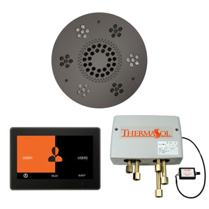 The Wellness Shower Package with ThermaTouch by ThermaSol 10 inch round black nickel
