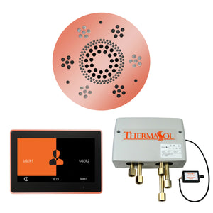 The Wellness Shower Package with ThermaTouch by ThermaSol 10 inch round copper