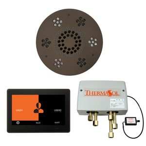 The Wellness Shower Package with ThermaTouch by ThermaSol 10 inch round oil rubbed bronze