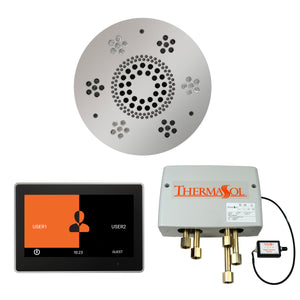 The Wellness Shower Package with ThermaTouch by ThermaSol 10 inch round polished chrome