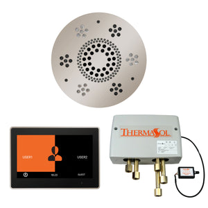 The Wellness Shower Package with ThermaTouch by ThermaSol 10 inch round polished nickel