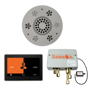 The Wellness Shower Package with ThermaTouch by ThermaSol 10 inch round satin chrome