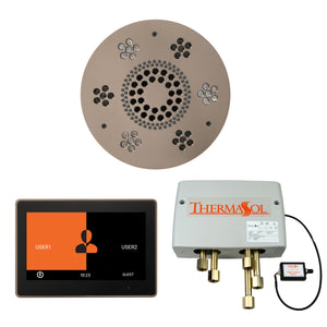 The Wellness Shower Package with ThermaTouch by ThermaSol 10 inch round satin nickel