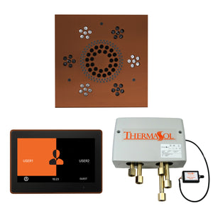 The Wellness Shower Package with ThermaTouch by ThermaSol 10 inch square antique copper
