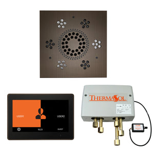 The Wellness Shower Package with ThermaTouch by ThermaSol 10 inch square antique nickel