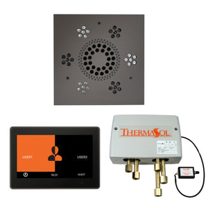 The Wellness Shower Package with ThermaTouch by ThermaSol 10 inch square black nickel