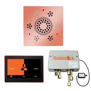 The Wellness Shower Package with ThermaTouch by ThermaSol 10 inch square copper