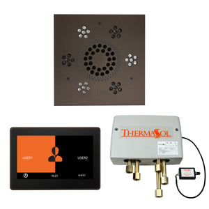 The Wellness Shower Package with ThermaTouch by ThermaSol 10 inch square oil rubbed bronze