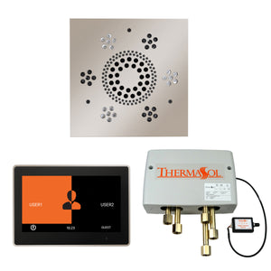 The Wellness Shower Package with ThermaTouch by ThermaSol 10 inch square polished nickel