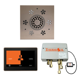 The Wellness Shower Package with ThermaTouch by ThermaSol 10 inch square satin nickel