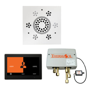 The Wellness Shower Package with ThermaTouch by ThermaSol 10 inch square white