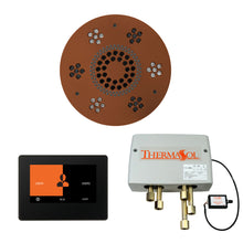 Load image into Gallery viewer, The Wellness Shower Package with ThermaTouch by ThermaSol 7 inch round antique copper
