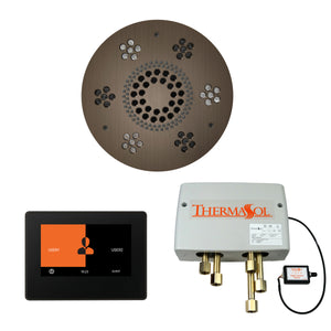 The Wellness Shower Package with ThermaTouch by ThermaSol 7 inch round antique nickel