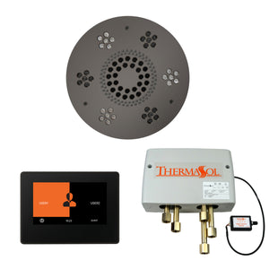 The Wellness Shower Package with ThermaTouch by ThermaSol 7 inch round black nickel
