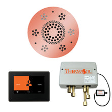 Load image into Gallery viewer, The Wellness Shower Package with ThermaTouch by ThermaSol 7 inch round copper