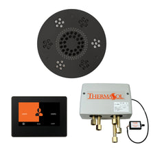 Load image into Gallery viewer, The Wellness Shower Package with ThermaTouch by ThermaSol 7 inch round matte black