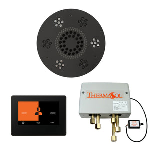 The Wellness Shower Package with ThermaTouch by ThermaSol 7 inch round matte black