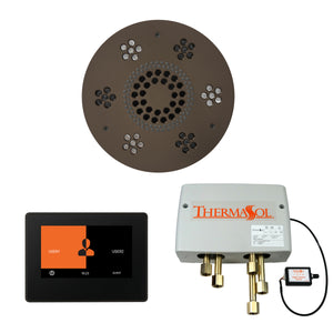 The Wellness Shower Package with ThermaTouch by ThermaSol 7 inch round oil rubbed bronze
