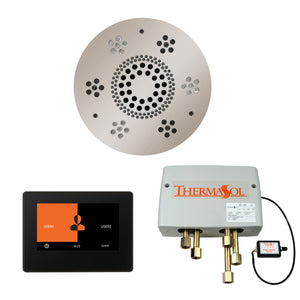 The Wellness Shower Package with ThermaTouch by ThermaSol 7 inch round polished nickel