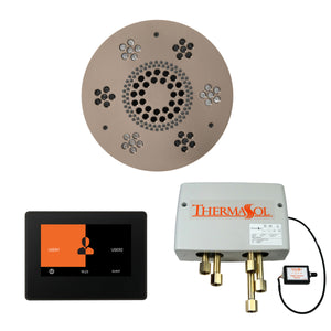 The Wellness Shower Package with ThermaTouch by ThermaSol 7 inch round satin nickel