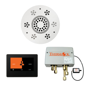 The Wellness Shower Package with ThermaTouch by ThermaSol 7 inch round white