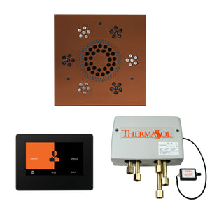 The Wellness Shower Package with ThermaTouch by ThermaSol 7 inch square antique copper